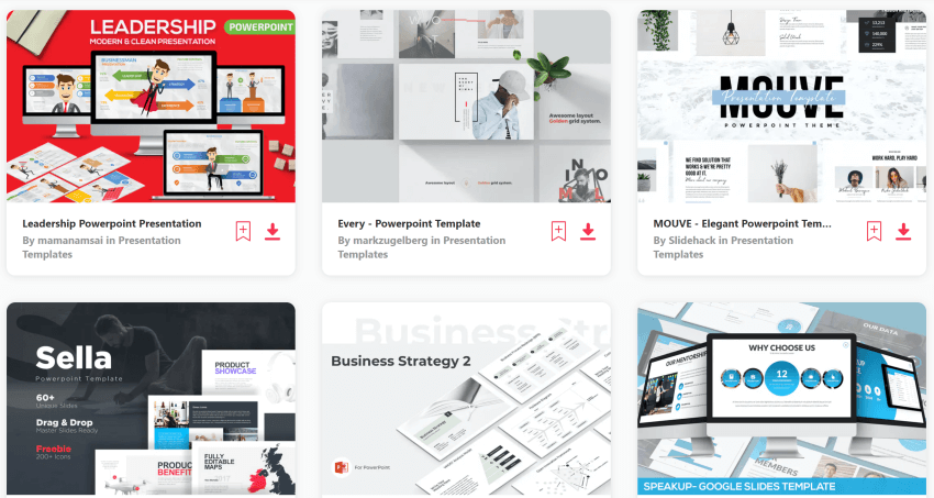 find leadership powerpoint templates on Envato Elements