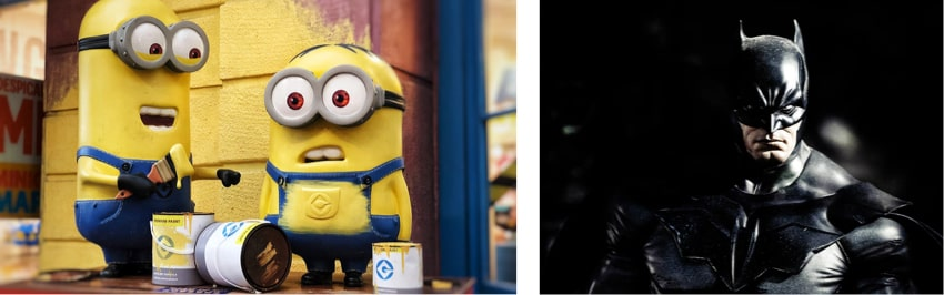 Is your product more similar to The Minions or Batman