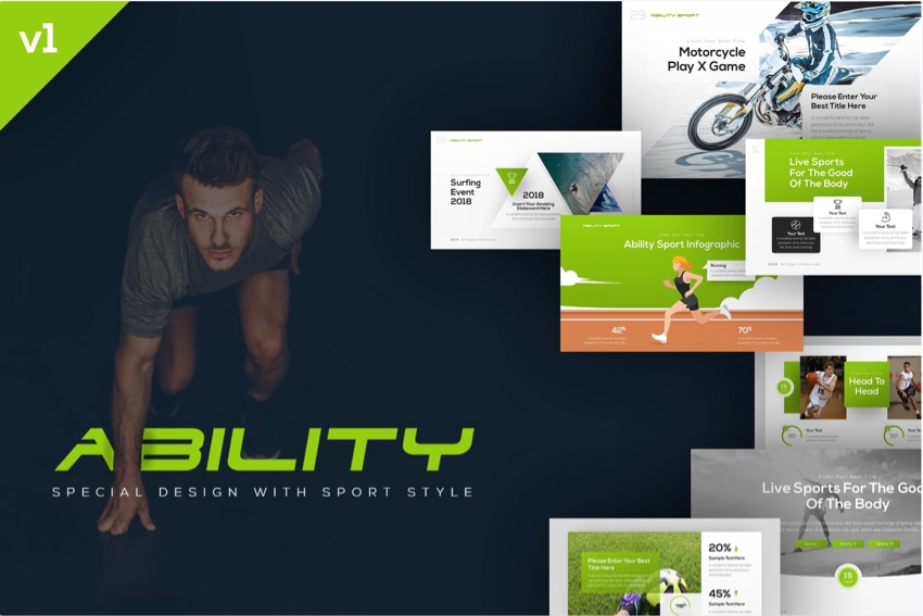 9655e24f3f7 19 Best Sports PowerPoint Templates for Team Presentations