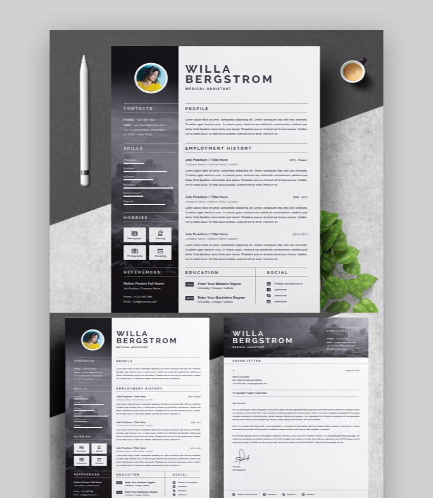 24 Free Google Docs Microsoft Word Resume Cv Templates 2019