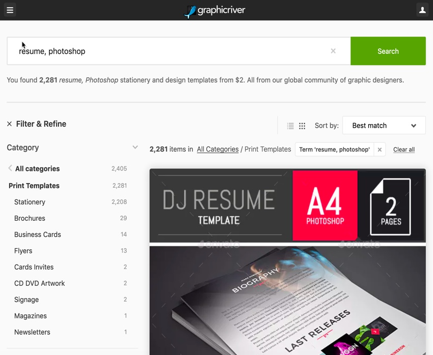 22+ Best Photoshop (PSD) Resume Templates (With Photo Formats)