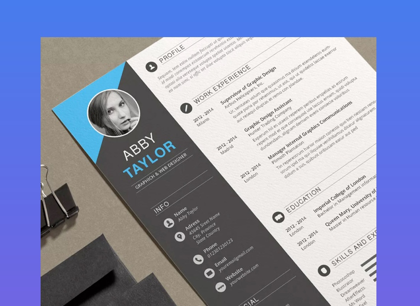 resume templates for business