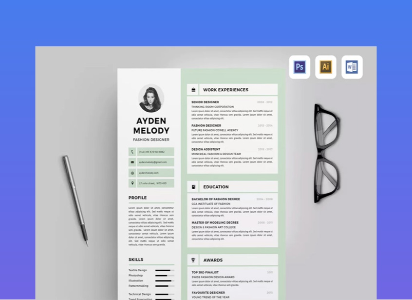35 Best Professional Business Resume Templates Company Cvs 2020