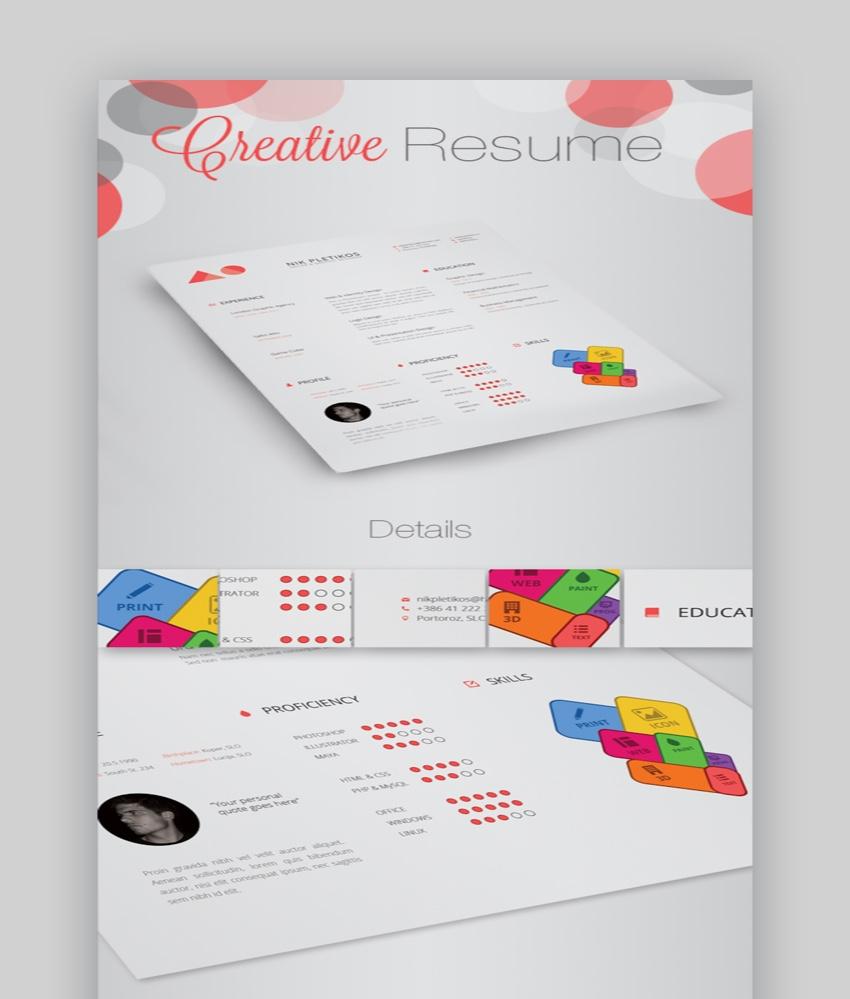 creative resume and CV