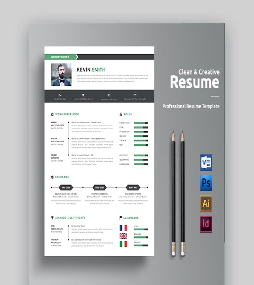 resume templates for adobe illustrator
