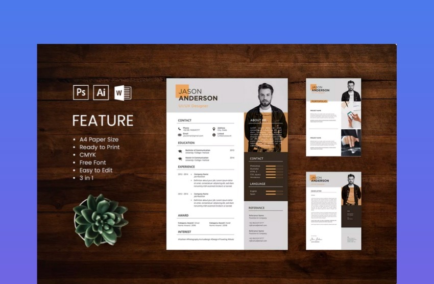 20 Awesome Illustrator Resume Template Designs To Wow Hiring Managers