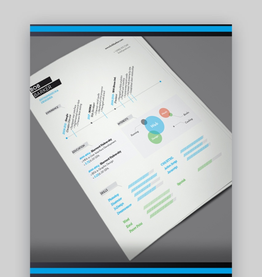 resume templates for illustrator