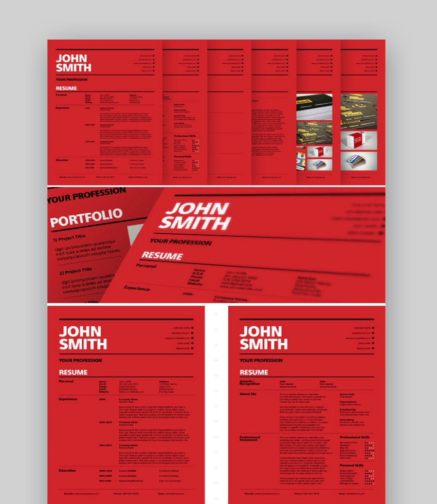 adobe illustrator resume template