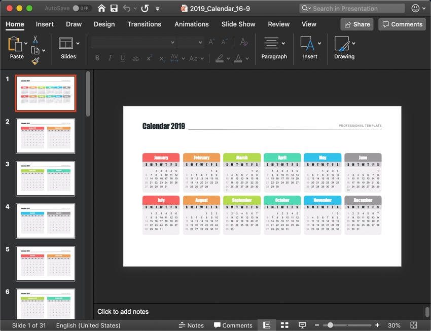 a4480a00b0 How to Quickly Customize   Insert a PowerPoint (PPT) Calendar Using ...
