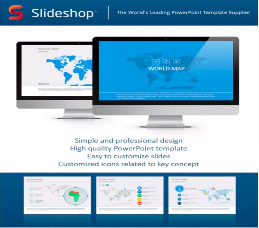20 Amazing Editable Maps for PowerPoint
