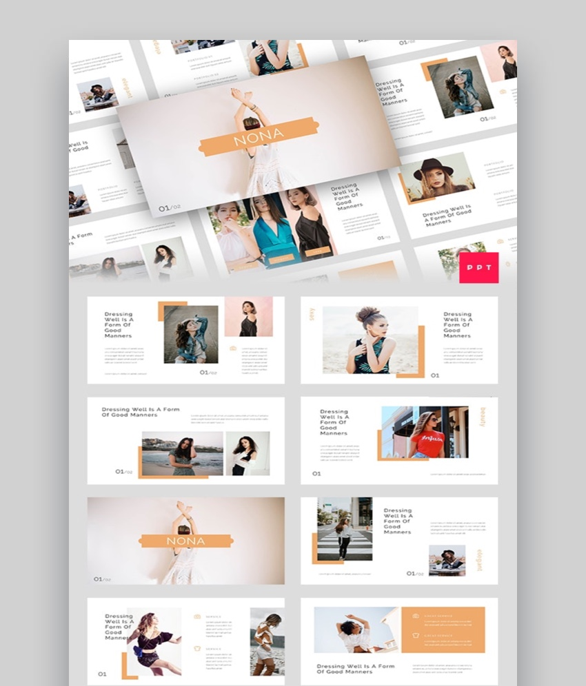 30 Top Fashion Powerpoint Templates For Trendy Marketing Ppt Presentations 2020