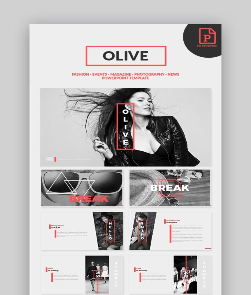 Olive Fashion template