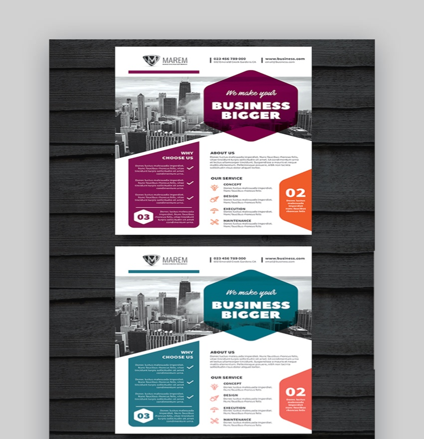 Corporate flyer design templates