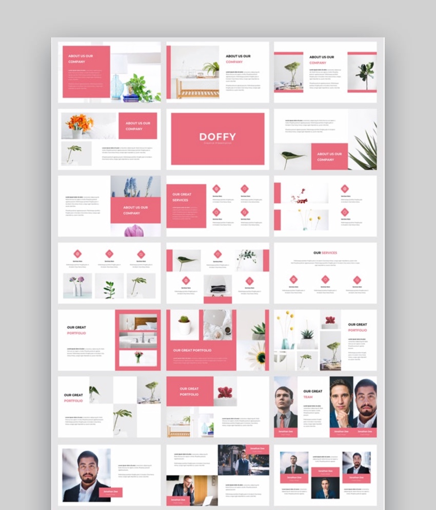 Doffy - Creative Photography PowerPoint Template