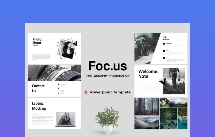 Focus Photography PowerPoint Template