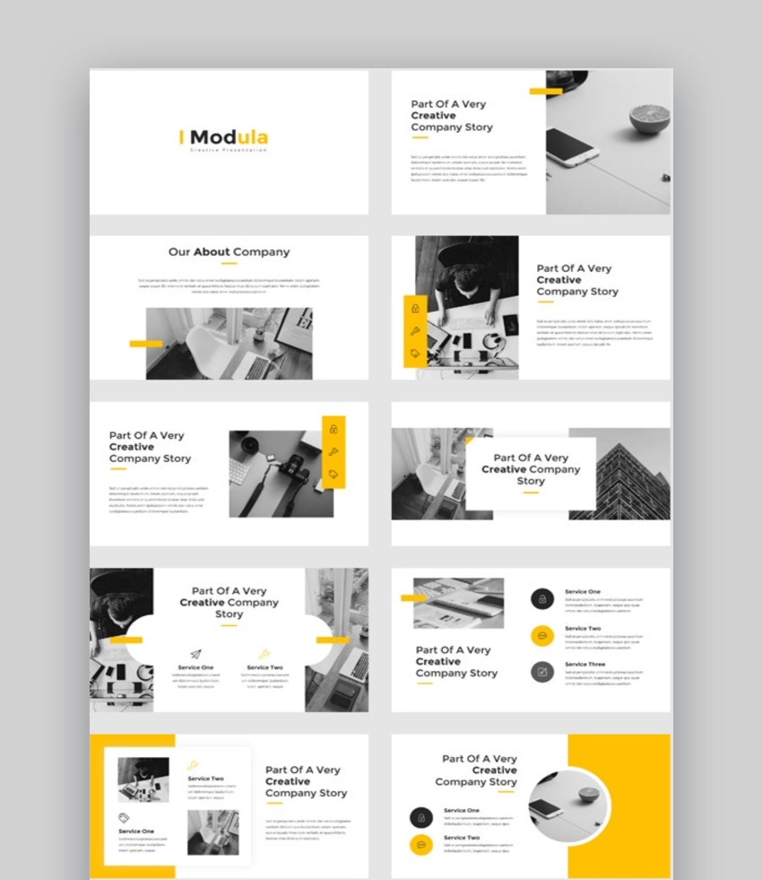 Modula - Creative Photography PowerPoint Template