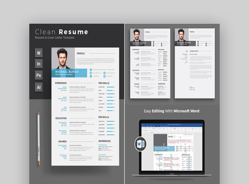 39 Professional Ms Word Resume Templates Simple Cv Design