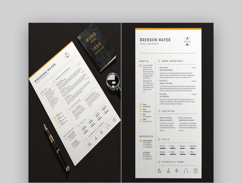 Simple Resume Microsoft Word Template Design