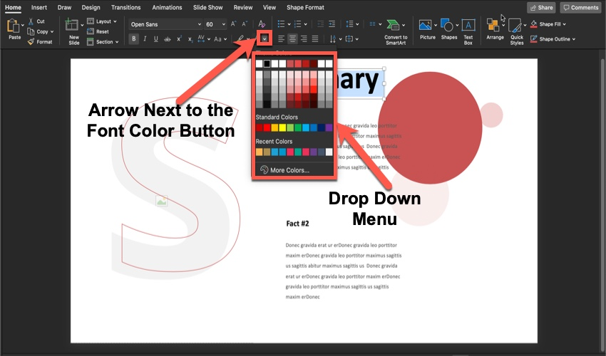 New Color on Summary slide