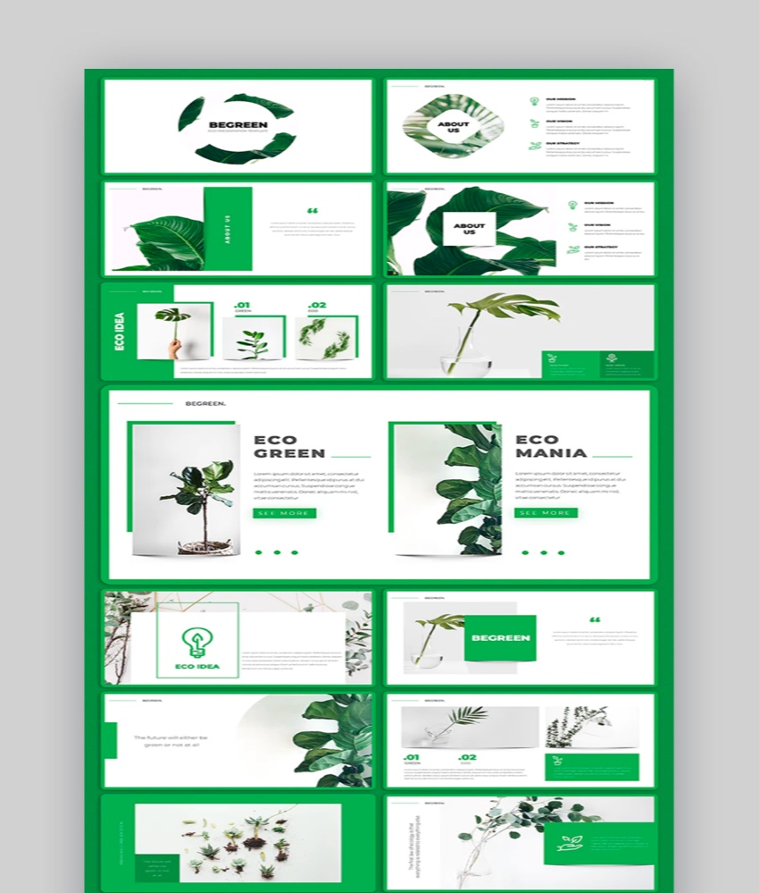 Be Green PowerPoint Template