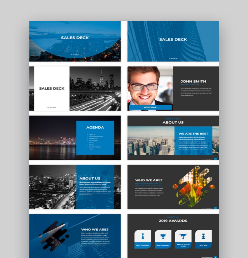 Sales Deck PowerPoint Template
