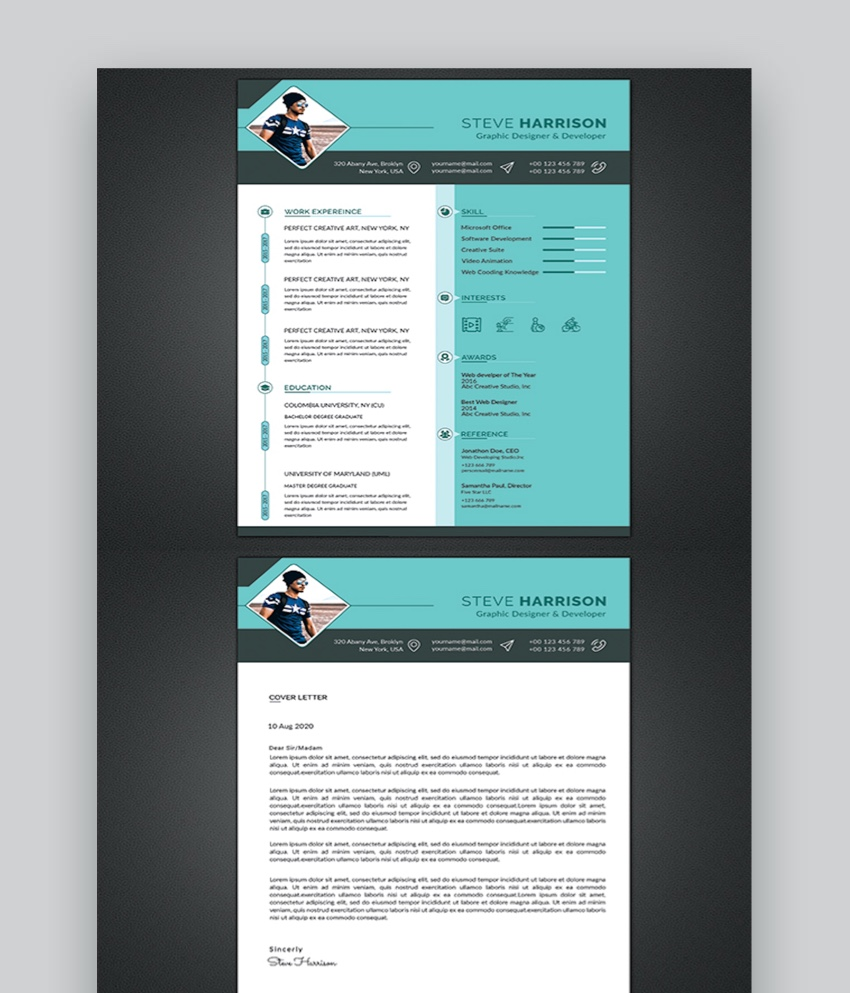30 Best Web Graphic Designer Resume Cv Templates Examples For 2020