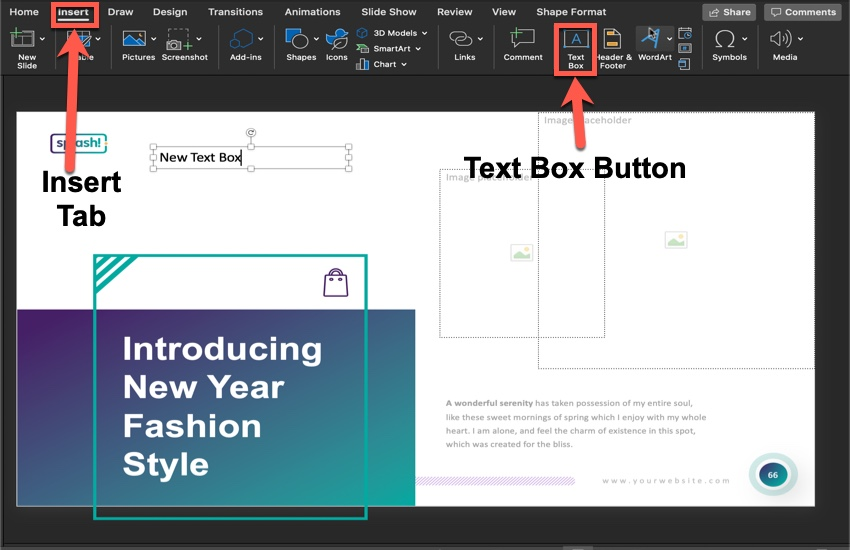 How to add a new text box