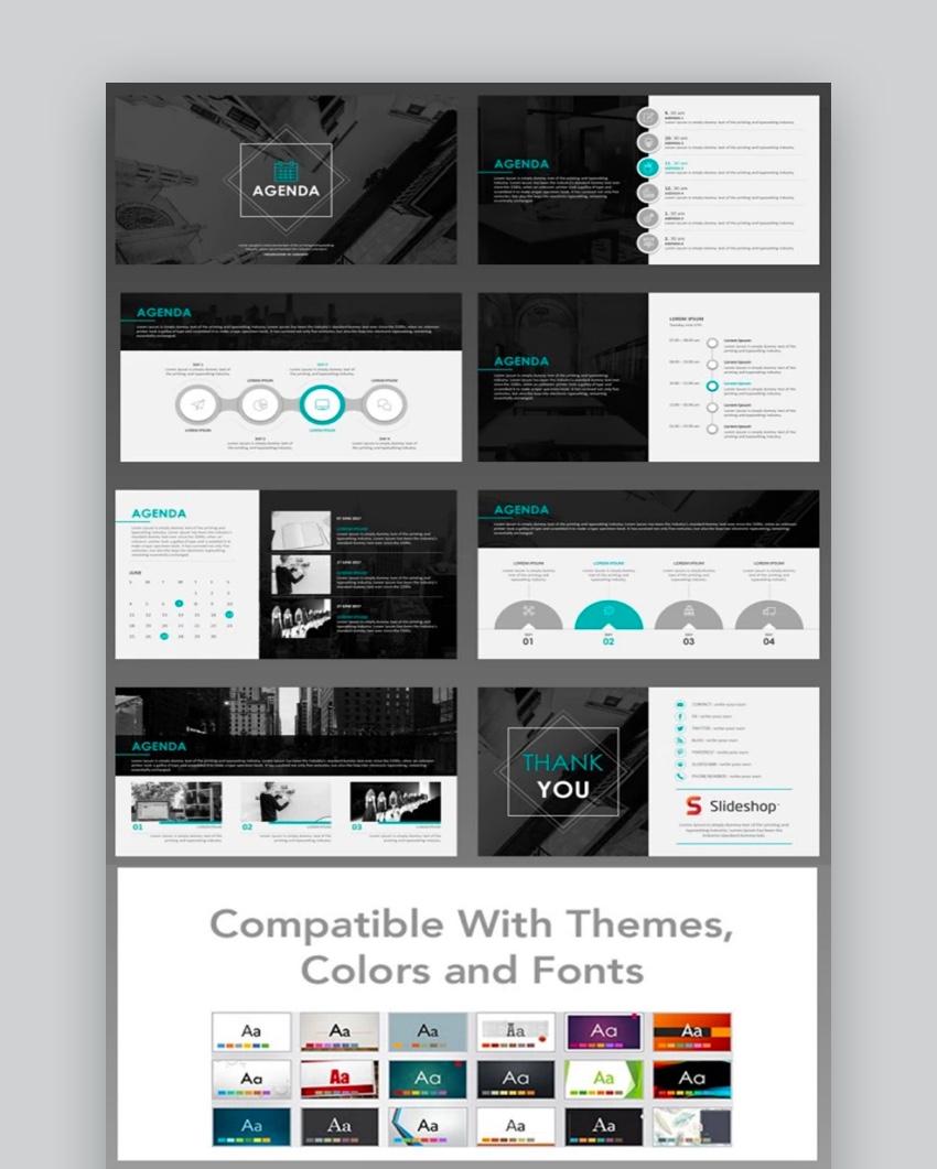 30 Best PowerPoint Agenda Slide Template Designs (Free ...