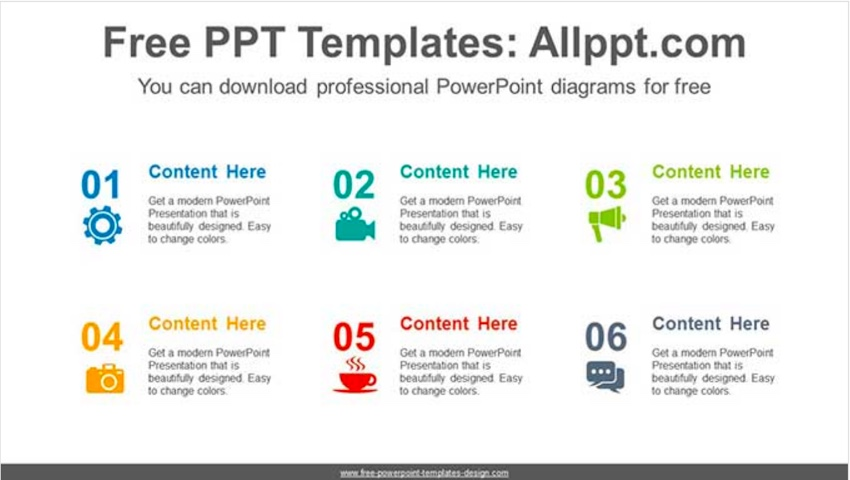 Icon Number List PowerPoint Diagram