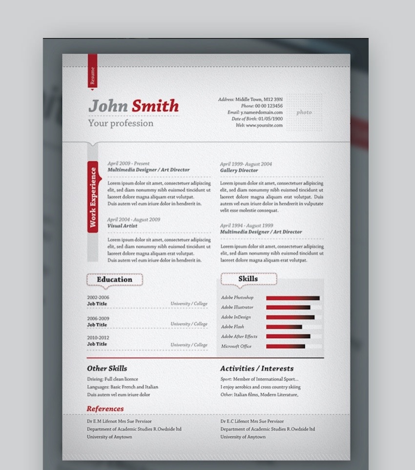 20 Free Professional Resume Cover Letter Format Templates ...