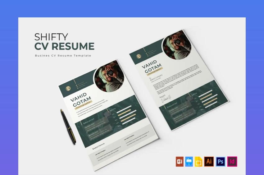 Shift CV - Clean Simple Resume Format