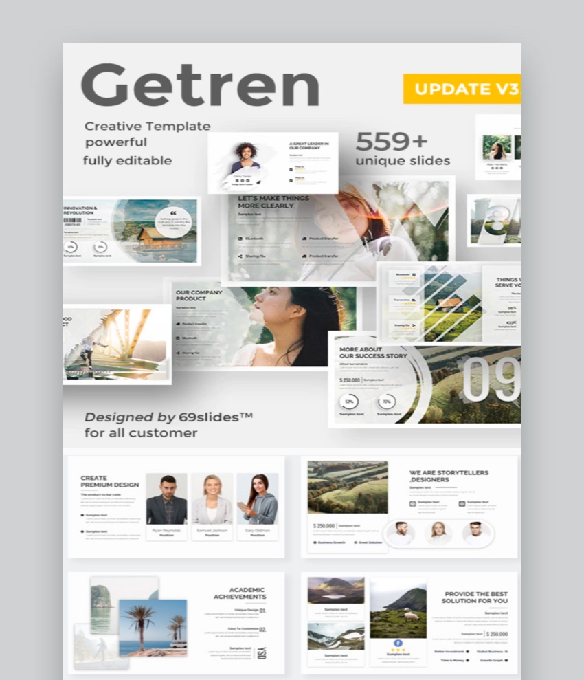 Getren Creative PowerPoint Template