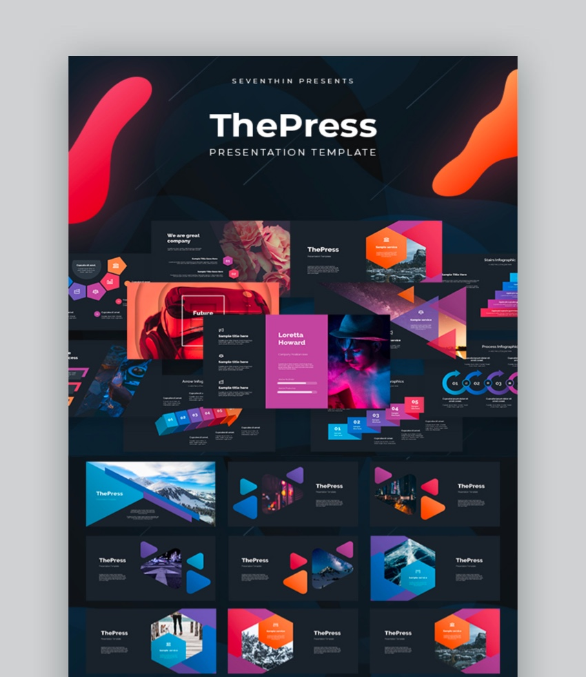 The Press- Animated PowerPoint Template