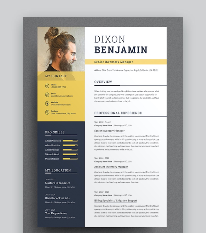 39 Professional Ms Word Resume Templates Simple Cv Design Formats 2020
