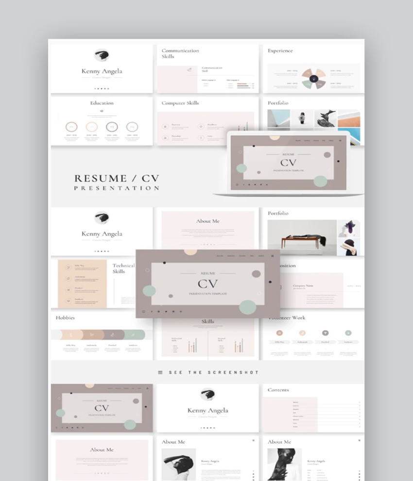 Resume CV PowerPoint Presentation Template