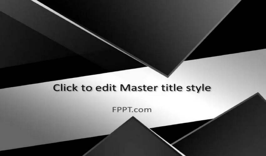 Abstract Black and White Template