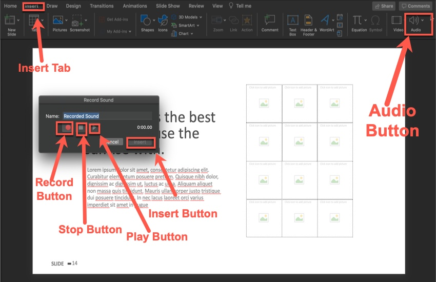 How to Add Narration to Your Slide