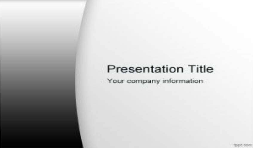 Professional Black and White Template