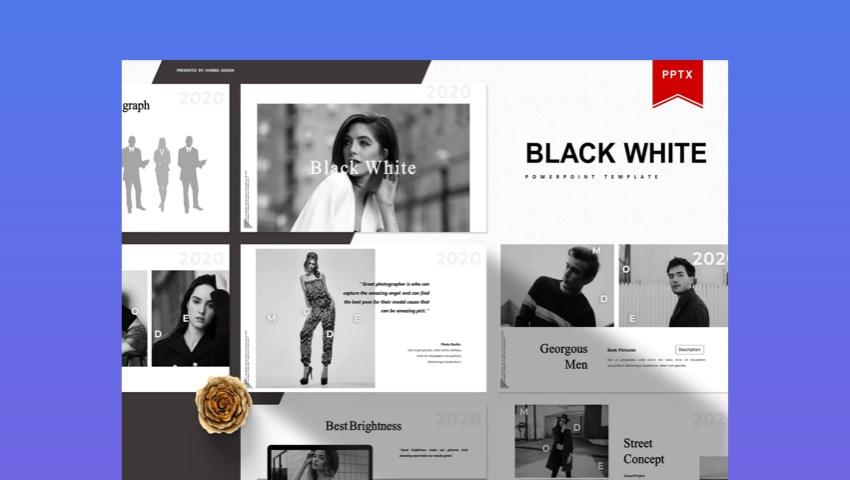 Black and White Presentation Template