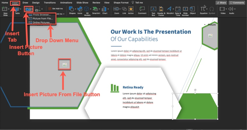 How to add an image to a slide