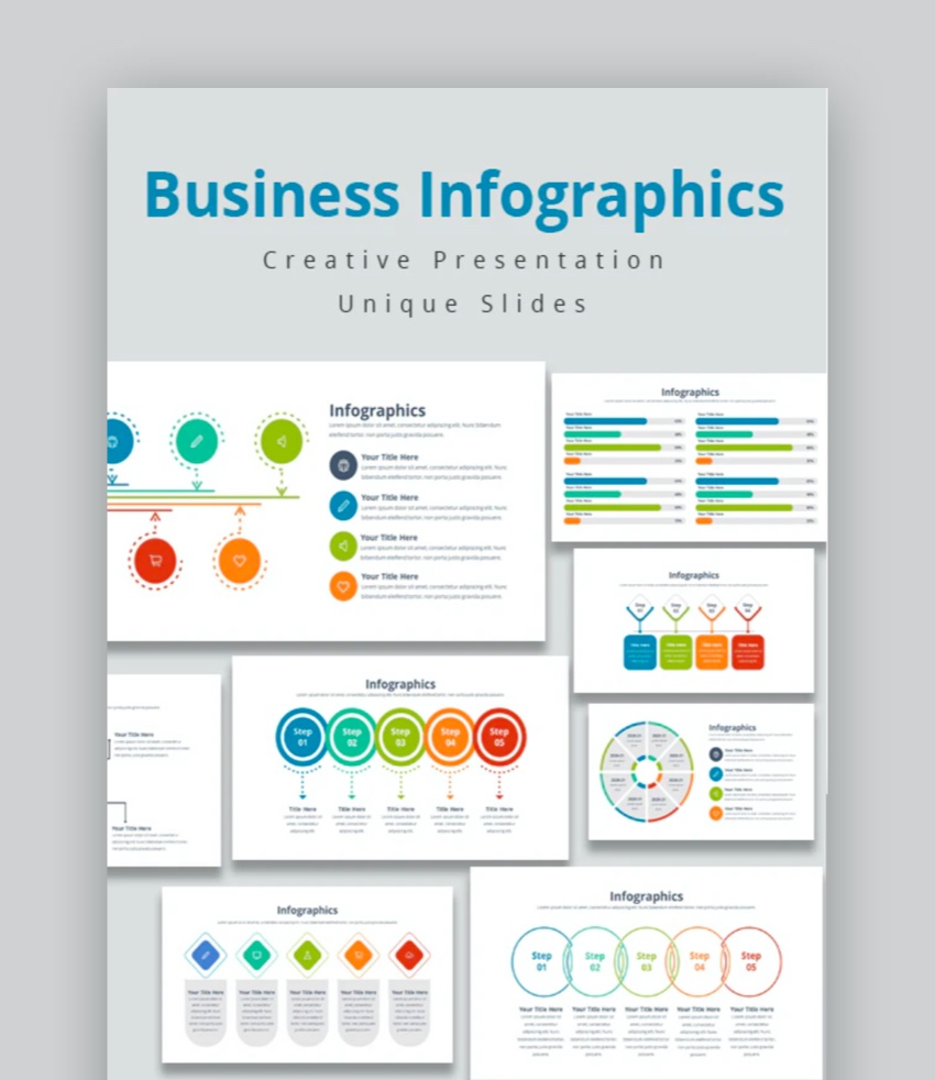 Business Infographics Keynote Template