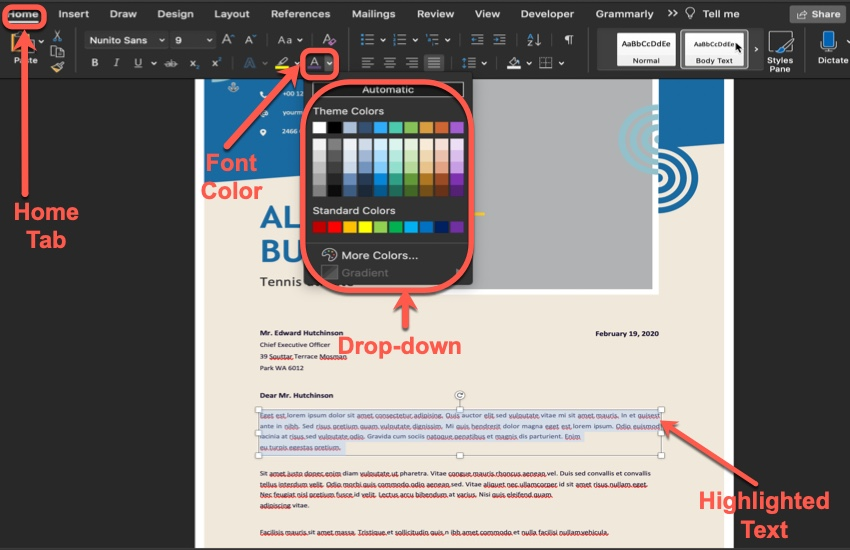 How to Change a Text Color