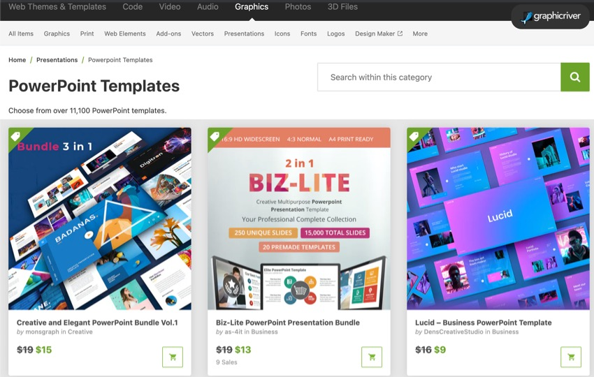 Best PowerPoint presentation design templates on GraphicRiver (2021)