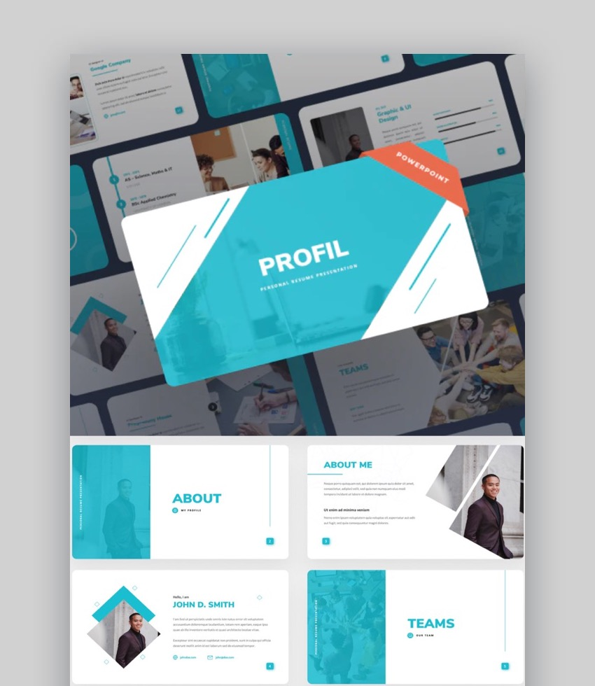 Profil PowerPoint Resume Template