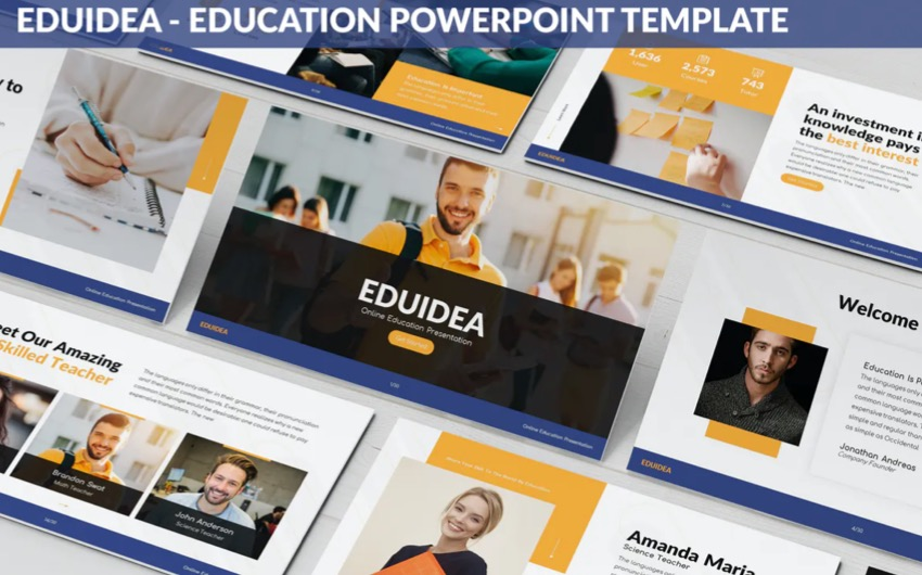 training PowerPoint with device mockups