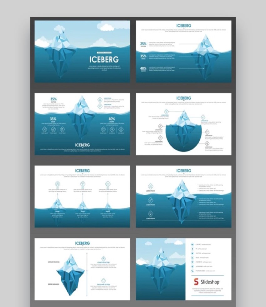 iceberg template