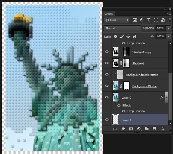 Transform a Photo into a LEGO Block Piece of Art in Adobe Photoshop