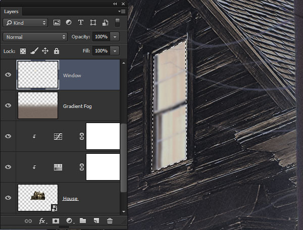 Create a layer from the top window