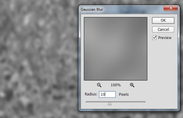 Gaussian blur to soften the fog texture