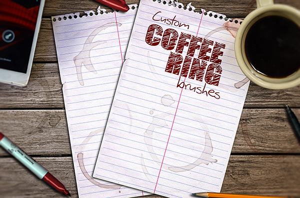 Add digital coffee rings to your designs